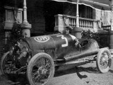 Josephine Garibaldi in a Racing Car  Italy