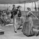 Passengers on the Deck of a Liner  1887
