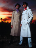 Retro Male Fashion Models  Overcoats  Waterproof  Couple