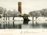 A Very Fine Decorated Brick Water Tower at Kalmar  Sweden