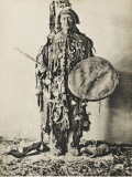 A Shaman of the Tunguska Region  Northern Russia  in Traditional Costume