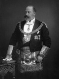 King Edward VII Dressed in Masonic Garb  1895