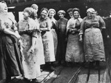 British Women Coal Workers in Lancashire Typical Pit Brow Workers During World War I