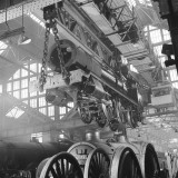 Locomotive Construction in a Large Railway Shed