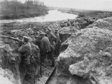 German Soldiers on the Aisne  Western Front During World War I