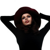 Retro Female Model 1970s  Floppy Hat  Fashion  Happy  Youthful