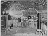 Nikola Tesla Produces Artificial 'Lighting' Papier Photo