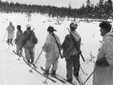 Ski Troops Patrolling in Finland During World War Ii