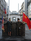 Checkpoint Charlie Reconstruction  Berlin  Germany