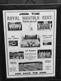 Royal Norfolk Regiment Recruiting Poster at a Recruitment Centre During World War Ii