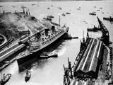 RMS 'Queen Mary'  Ocean Dock  Southampton  1936