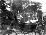 Prince Hirohito of Japan in His Carriage  1916