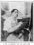 Cyrus Cincinnato Cuneo  Special Artist of the Illustrated London News  Pictured at Work