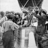 A British Observation-Officer's Parachute Being Tested