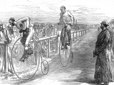 Bicycle Race at Lillie-Bridge  London  1875