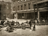 Soldiers at Euston Station During 1912 Railway Strike