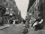 People Sitting on Street  Whitechapel  East London