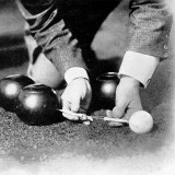 Photograph Showing the Measuring from a 'Jack' During a Game of Bowls  Britain  1903