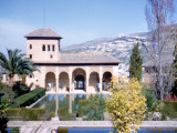 One of the Thirteen Towers at the Alhambra in Granada  Spain