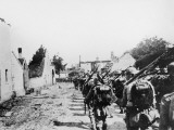 German Soldiers Entering into Belgium During World War I