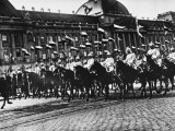 German Cuirassiers Returning from a Parade in Brussels During World War I