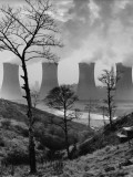 Cooling Towers of a Power Plant - Agecroft  Manchester 1966