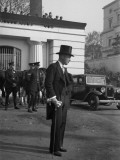 Smartly Dressed Man in London During King George V's Silver Jubilee