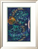 Air France: Celestial Map with Constellations and Zodiac  c1950