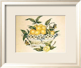 Lemons in a Porcelain Basket