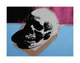 Skull  c1976 (White on Blue and Pink)