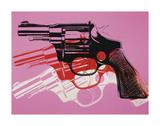 Gun  c1981-82 (Black  White  Red on Pink)