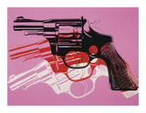 Gun  c1981-82 (Black  White  Red on Pink)