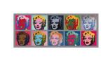 Dix Marilyne, vers 1967 Giclée par Andy Warhol