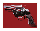 Guns  c1981-82 (White and Black on Red)