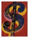Dollar Sign  c1981 (black and yellow on red)