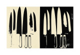 Knives, c.1981-82 (Cream and Black) Giclée par Andy Warhol