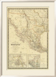 Nouvelle Carte du Mexique  Du Texas  c1840