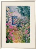 Door with Oleander and Geraniums