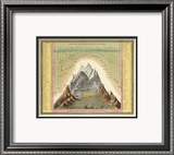 Heights of The Principal Mountains In The World  c1846