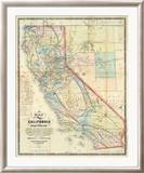 New Map of The State of California and Nevada Territory  c1863