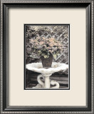 Vintage Flowers II  Still Life with Birdbath