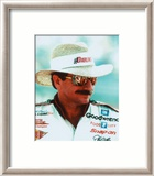 Dale Earnhardt Portrait With Straw Hat