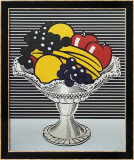 Still Life with Crystal Bowl Reproduction encadrée par Roy Lichtenstein