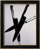 Knives  c1981-82 (Three Black on Cream)