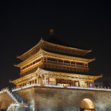China  Shaanxi Province  Xian  Night View of Ancient Drum Tower