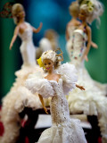 One of the two hundred Barbie dolls dressed in traditional flamenco outfits