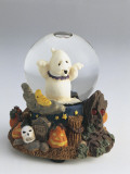 Close-Up of a Halloween Party Snow Globe