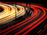 Autobahn Curve Light Trails
