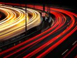 Autobahn Curve Light Trails