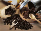 Close-Up of Coffee Beans Spilling from a Sack